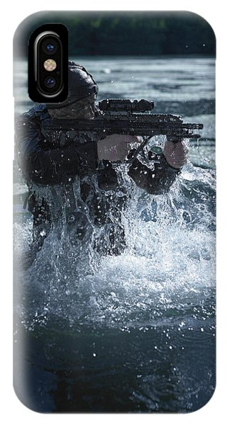 Sharpshooter iPhone Case - Special Operations Forces Soldier by Tom Weber