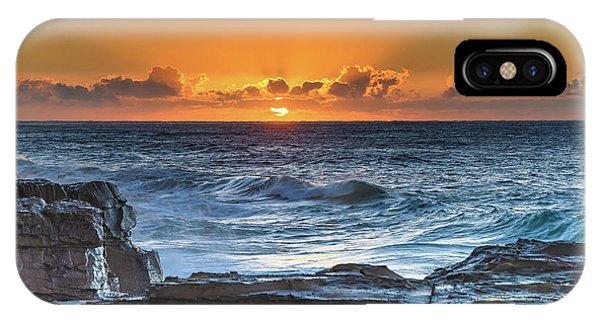 Sunrise Seascape With Sun IPhone Case