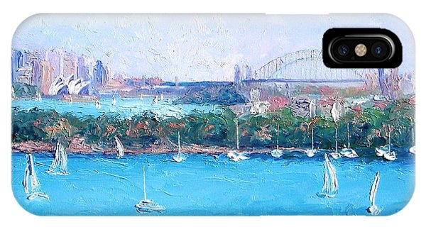 Sydney Harbour And The Opera House By Jan Matson IPhone Case