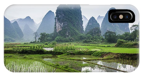 IPhone Case featuring the photograph The Beautiful Karst Rural Scenery In Spring by Carl Ning