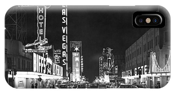Road Signs iPhone Case - The Las Vegas Strip by Underwood Archives