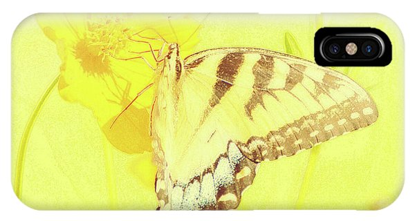 Tiger Swallowtail Butterfly On Cosmos Flower IPhone Case