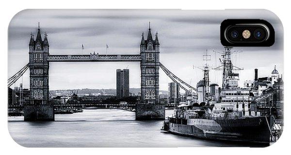 North London iPhone Case - Tower Bridge - London by Joana Kruse