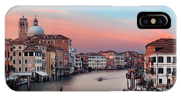 IPhone Case featuring the photograph Venice Grand Canal Sunset by Songquan Deng