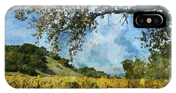 Vineyard In Napa Valley California IPhone Case