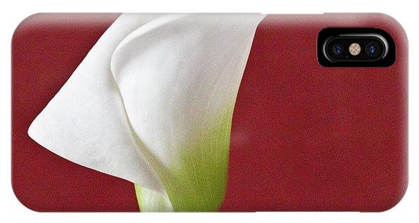 White Calla IPhone Case