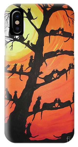 60 Cats In The Love Tree IPhone Case
