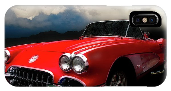 60 Corvette Roadster In Red IPhone Case