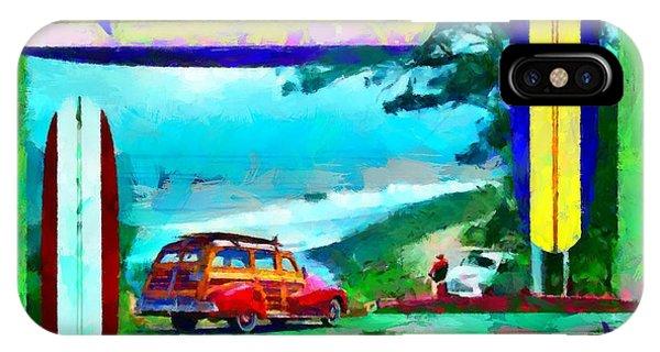 60's Surfing IPhone Case