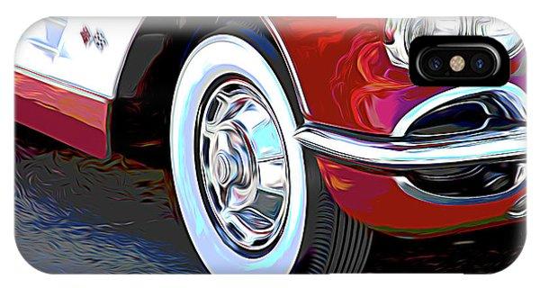 Car iPhone Case - 61 Corvette by Tom Mc Nemar