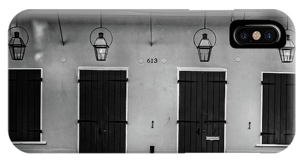 613 Doors And Lights In Black And White IPhone Case