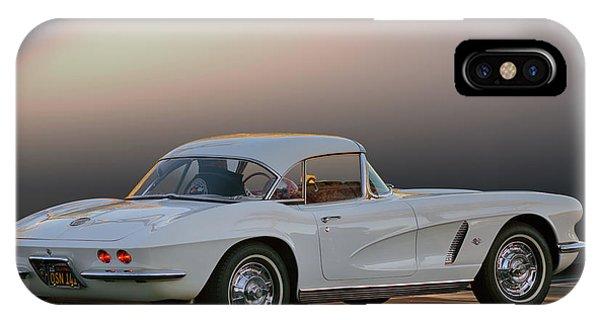 62 White Red Corvette IPhone Case