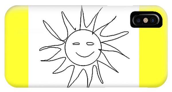 6.57.hungary-6-detail-sun-with-smile IPhone Case