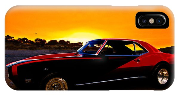 69 Camaro Up At Rocky Ridge For Sunset IPhone Case