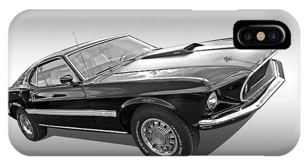 69 Mach1 In Black And White IPhone Case