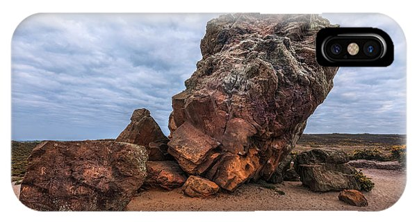 Anvil iPhone Case - Agglestone Rock - England by Joana Kruse