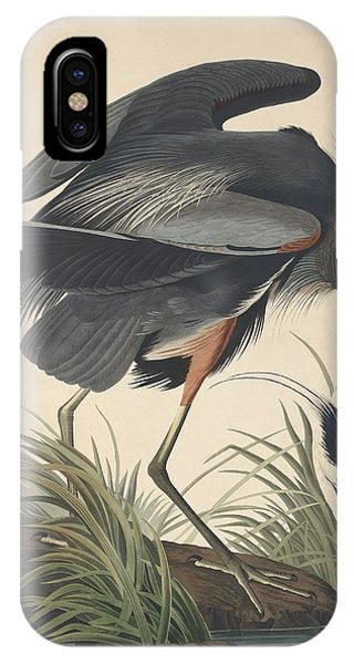 1851 iPhone X Case - Great Blue Heron by Dreyer Wildlife Print Collections