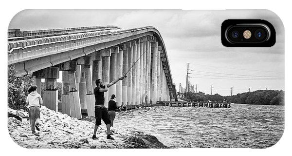 7 Mile Bridge B_w IPhone Case