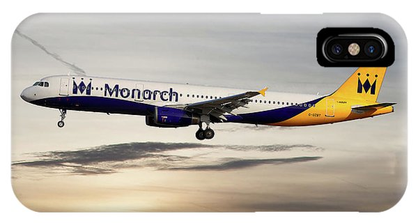 Monarch iPhone Case - Monarch Airbus A321-231 by Smart Aviation