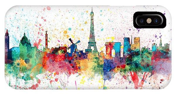 Paris France Skyline IPhone Case
