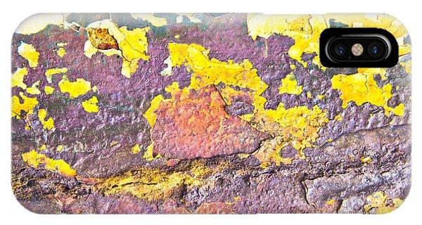 Mottled iPhone Case - Rusty Metal by Tom Gowanlock