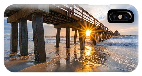 Sunset Naples Pier, Florida IPhone Case