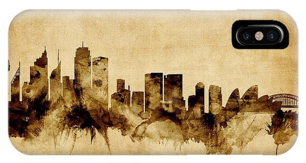 Sydney Australia Skyline IPhone Case