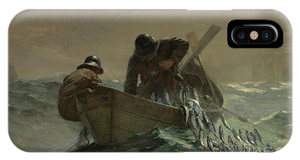 At Work iPhone Case - The Herring Net by Winslow Homer