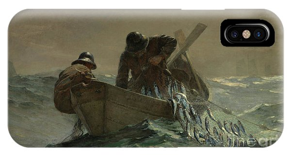Homer iPhone Case - The Herring Net by Winslow Homer