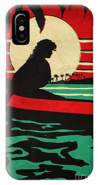 Hawaiian Sunset iPhone Case - Vintage Hawaiian Art by Hawaiian Legacy Archive - Printscapes