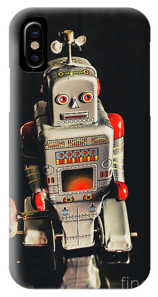 1950s iPhone Case - 70s Mechanical Android Bot  by Jorgo Photography - Wall Art Gallery