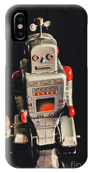 Robot iPhone Case - 70s Mechanical Android Bot  by Jorgo Photography - Wall Art Gallery