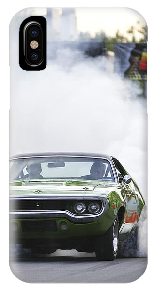 '72 Roadrunner Burn Out IPhone Case