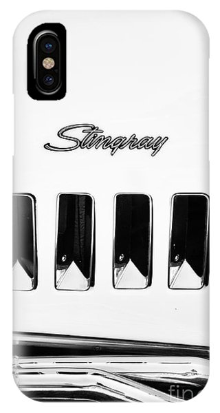 1972 iPhone Case - 72 Stingray Monochrome  by Tim Gainey