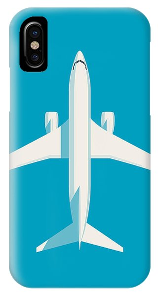 Airline iPhone Case - 737 Passenger Jet Airliner Aircraft - Cyan by Ivan Krpan