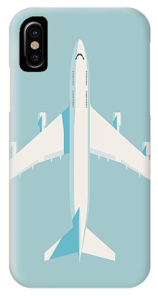 Airline iPhone Case - 747 Jumbo Jet Airliner Aircraft - Sky by Ivan Krpan