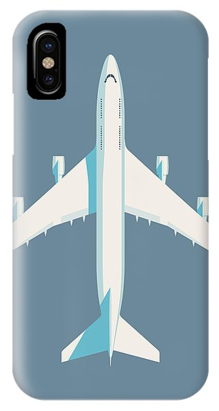 Airline iPhone Case - 747 Jumbo Jet Airliner Aircraft - Slate by Ivan Krpan