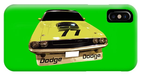 77 Yellow Dodge IPhone Case