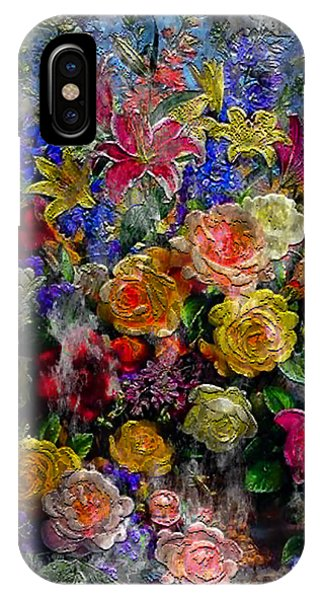 7a Abstract Floral Painting Digital Expressionism IPhone Case