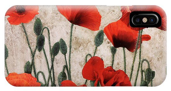 Poppies iPhone Case - 7papaveri7 by Guido Borelli