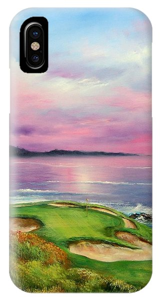 Monterey iPhone Case - 7th At Pebble by Sally Seago