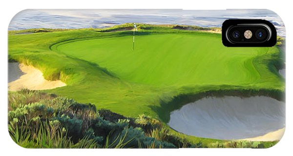 7th Hole At Pebble Beach Hol IPhone Case