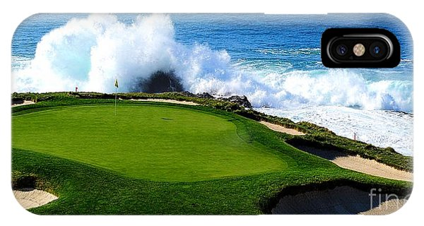 Monterey iPhone Case - 7th Hole - Pebble Beach  by Michael Graham