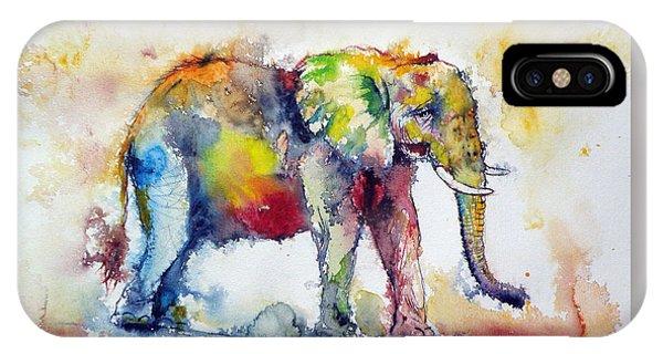 Big Colorful Elephant IPhone Case
