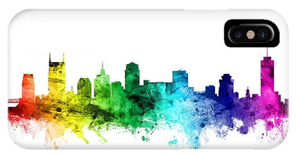 Nashville Skyline iPhone Case - Nashville Tennessee Skyline by Michael Tompsett