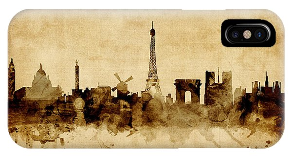 Eiffel Tower iPhone Case - Paris France Skyline by Michael Tompsett