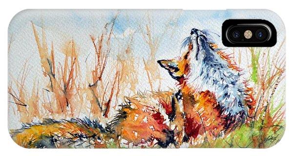 Wild Life iPhone Case - Red Fox by Kovacs Anna Brigitta