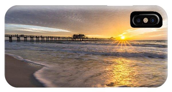 Sunset Naples Pier Florida IPhone Case