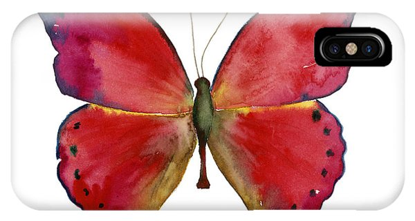 83 Red Glider Butterfly IPhone Case