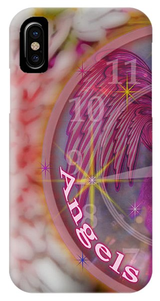 #8913_444 Angels Are Present  IPhone Case